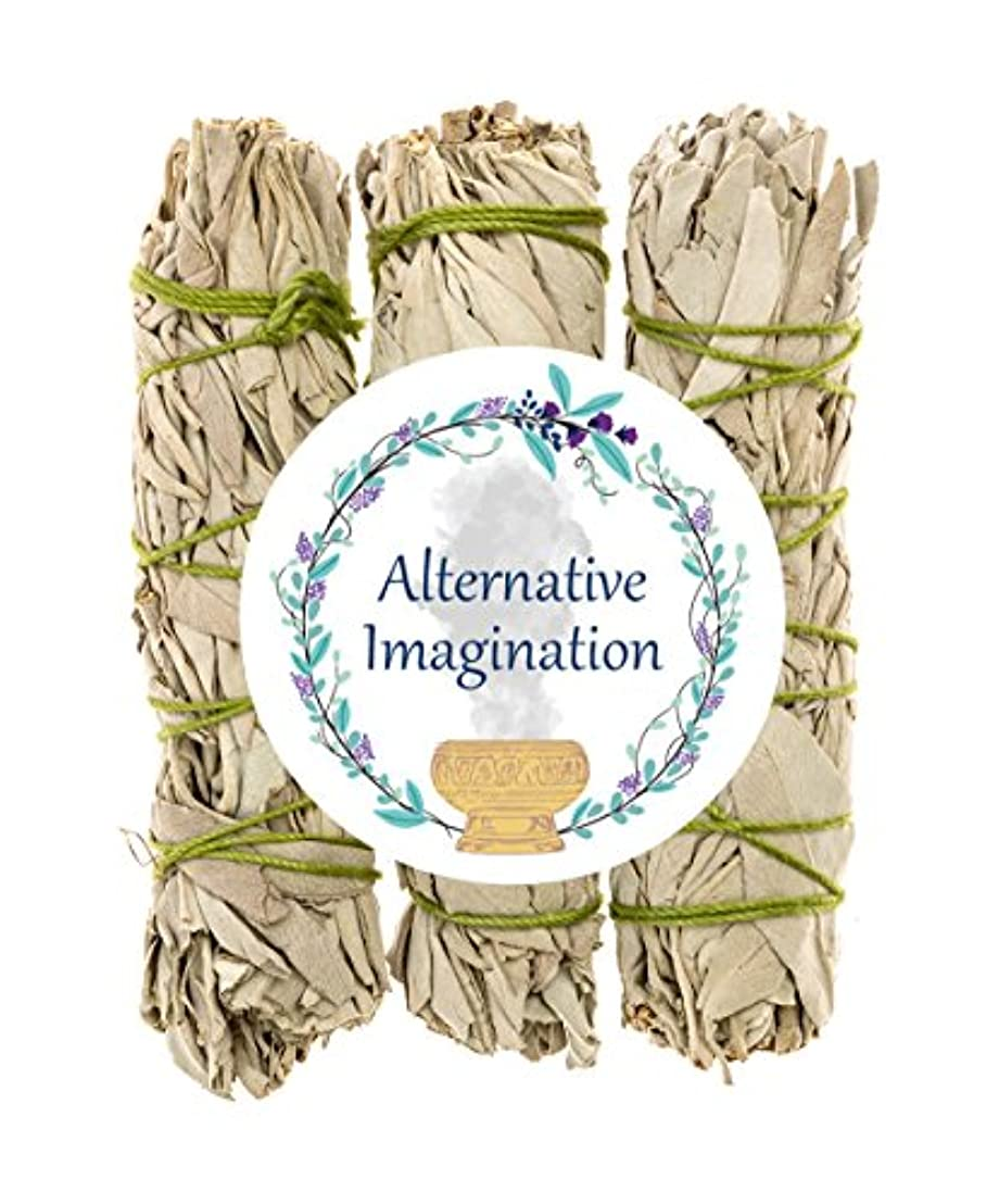 うるさい高齢者最後にプレミアムカリフォルニアホワイトセージ4インチSmudge Sticks。Alternative想像力ブランド。 3 Pack FBA_COMINHKG064035