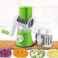 Ochine 多機能 野菜スライサー 回転式 フルーツ ステンレス 料理 実用的 操作が簡単 耐久性のある野菜スライサー キッチン用品