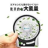 VersionTek 小型扇風機 携帯ファン 小型ファン usb扇風機 ミニファン 静音サーキュレーター 3段階風力調整可能 省エネ 卓上扇風機 usb&乾電池両対応 オフィスや部屋や外出で使用可能(ホワイト)