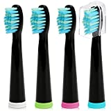 Fairywill 電動歯ブラシ用 替ブラシ 4本入 互換ブラシ ブラシヘッド やわらかめ BH02