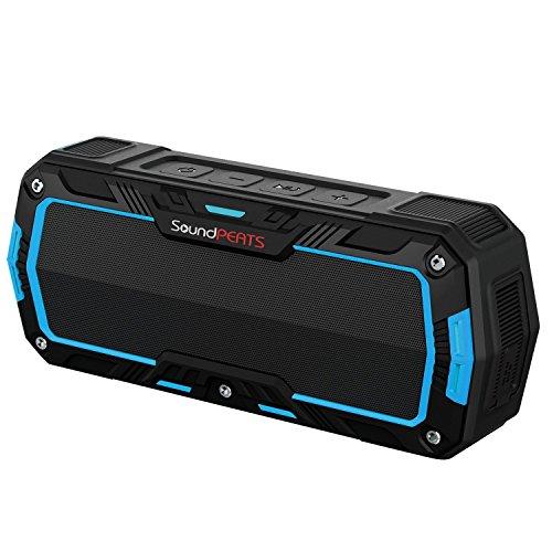 SoundPEATS 【メーカー直販/1年保証付】 Bluetoothスピーカー 防水仕様 耐衝撃 ポータブルスピーカー マイク搭載通話可能 10時間連続再生 P3 (ブルー)
