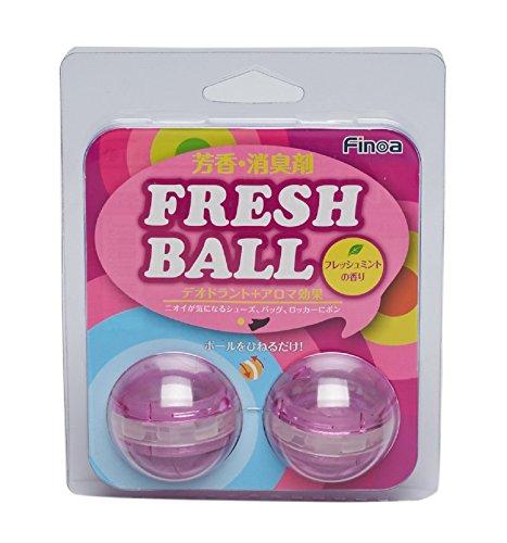 Finoa(フィノア) 芳香消臭剤 フレッシュボール クリアピンク フレッシュミントの香り 5050...