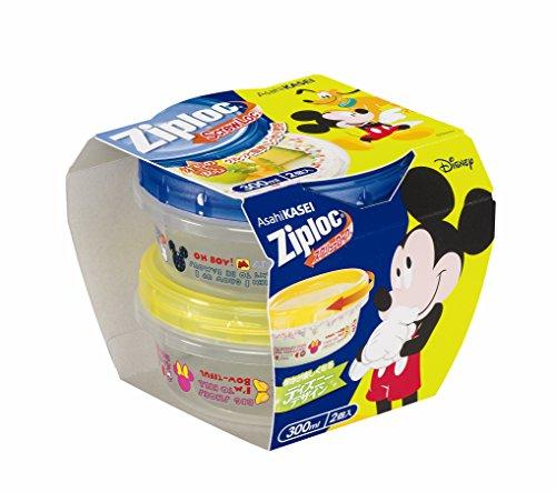 ジップロック スクリューロック 300ml 2個入 ミッキーマウス 2017