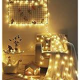 イルミネーションライト 星型装飾LEDストリングライト 防水 6m 40球 電池式 室外 装飾 結婚式 お庭など対応 パーティー 飾り ライト 正月 クリスマス 飾り バレンタインデー 電飾 (電球色) (星型昼白色)