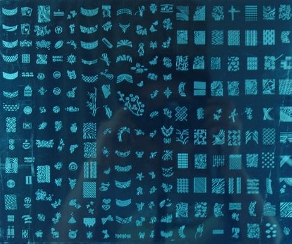 削る花火くぼみ(ココ)KOKO スタンピング ネイル イメージ プレート ボード スタンピング ネイル 超 ビック デザイン プレート 輸入品 (B)