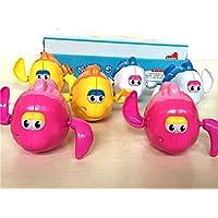 HuaQingPiJu-JP 子供のかわいい漫画の魚のバスタブバストイレのおもちゃの水遊びのおもちゃランダム12センチメートル