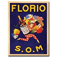 Florio SOM by Marcello Dudovich 35x47-Inch Canvas Wall Art [並行輸入品]