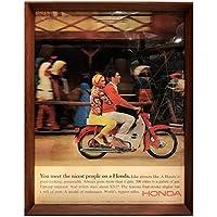 ホンダ スーパーカブ インディアン 1960年代 雑誌 広告 ポスター アートフレーム 額付