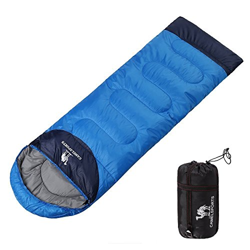CAMEL 寝袋 シュラフ 5℃~10℃ 高級ダウン寝袋 封筒型 軽量 コンパクト収納 キャンプ アウトドア 登山 丸洗い 夏用 冬用 収納袋付き 1.6kg