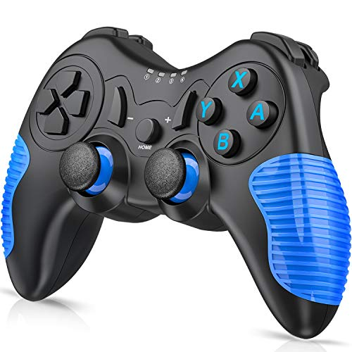 switch コントローラー 任天堂 switch用無線ワイヤレス プロコン switch BEBONCOOL Bluetooth接続 Nintendo switch対応スイッチ コントローラー プロコン ジャイロ デュアルショック Blue
