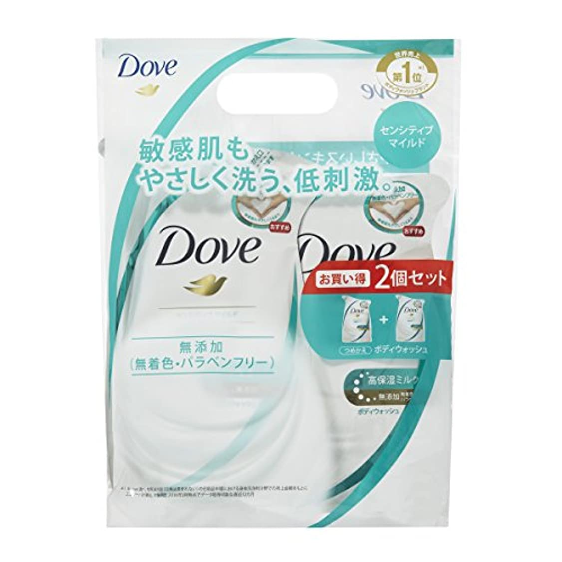 Dove ダヴ ボディウォッシュ センシティブマイルド つめかえ用ペア 360g+360g