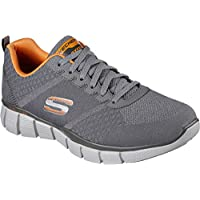 Skechers Men's Equalizer 2.0 True Balance Shoe Charcoal/Orange