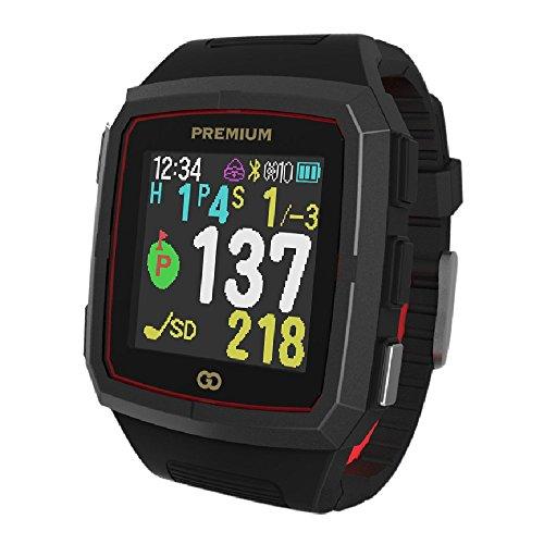GreenOn(グリーンオン) ザ・ゴルフウォッチ プレミアム ゴルフナビ GPS カラーモデル[ブラック×レッド] 高精度 スマホ連動 スタンスチェック機能付  GO11-CB