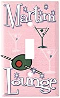 Martini Loungeスイッチプレート Single Toggle ピンク 249-S-plate 1
