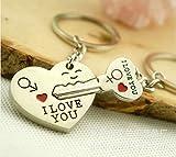 Romantic World Pride Key to My Heartかわいいカップルキーチェーンラブキーチェーンキーリング