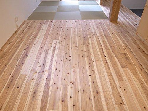 無垢板 杉フローリング 床 節有り 11×160×1985 10枚入り 1束