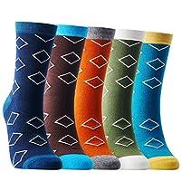 Hello Monday カジュアル 靴下 ソックス メンズ 綿素材 新規性 人気 マルチカラー カラフル ファッション プレゼント 5足セット T01