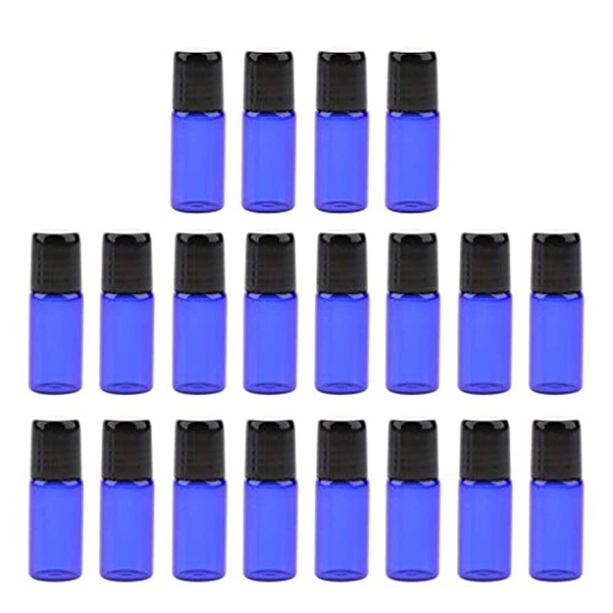 パブトークンピクニックをするエッセンシャルオイル ボトル ガラス ローラーボール 香水ボトル 詰め替え可能な 3サイズ選べ - 3 ml