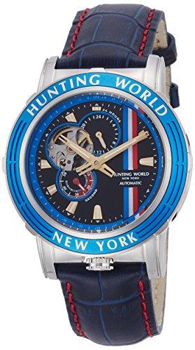 [ハンティングワールド]HUNTING WORLD 腕時計 アディショナルタイム 自動巻き レザー ネイビー文字盤 5気圧防水 HW993BL メンズ 【正規輸入品】