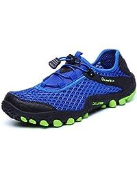 XIANV 夏 ウォーター シューズ 通気性 メッシュ 靴 メンズ アウトドア 水陸両用 ウォーキング シューズ 軽量 ハイキング シューズ