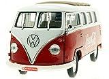 Coca-Cola(コカ・コーラ) ダイキャストミニカー 1962 Volkswagen Samba minibus 1/18スケール レッド