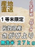 【無洗米】 30年産 佐賀県産 さがびより 27kg