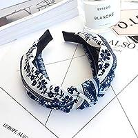 AKDSteel Women Girls Headband Top Knot Turban Headband Cross Bandage Scarf Hair Accessories 1#