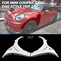 For F56 Mini Cooper S DAG Style Vented Front Side Fenderガラス繊維フロントベントフェンダーペア