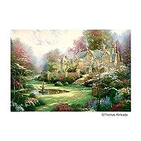 1000ピースのジグソーパズル。 ジグソーパズル 1000ピース トーマス・キンケード 春の庭 31-484 〈簡易梱包