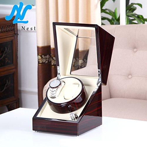 LoveNest ワインディングマシーン / 2本同時巻 / ウォッチワインダー /腕時計自動巻き器 /ウォッチワインディングマシーン /腕時計収納ケース (クリーム+ダブル)