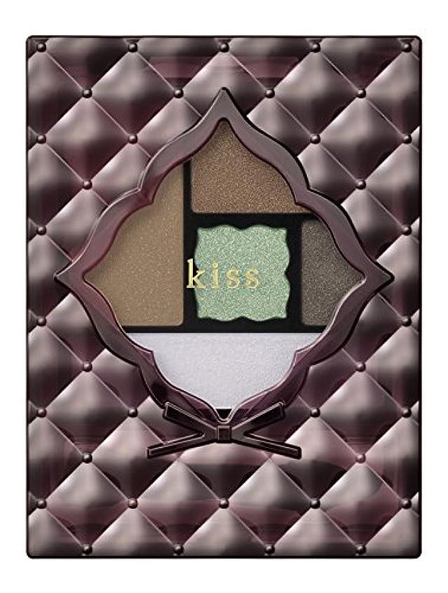 後方広範囲に試してみるキス アクセントアイズ 06 MintChocolate