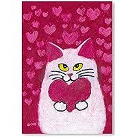 猫の足あと ポストカード 「Love」