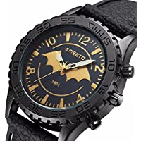 Business Men's Batman Bat Black Silicone Strap Analog Wristwatch Waterproof