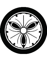 家紋シール 糸輪に三つ蔓銀杏紋 布タイプ 直径40mm 6枚セット NS4-1754