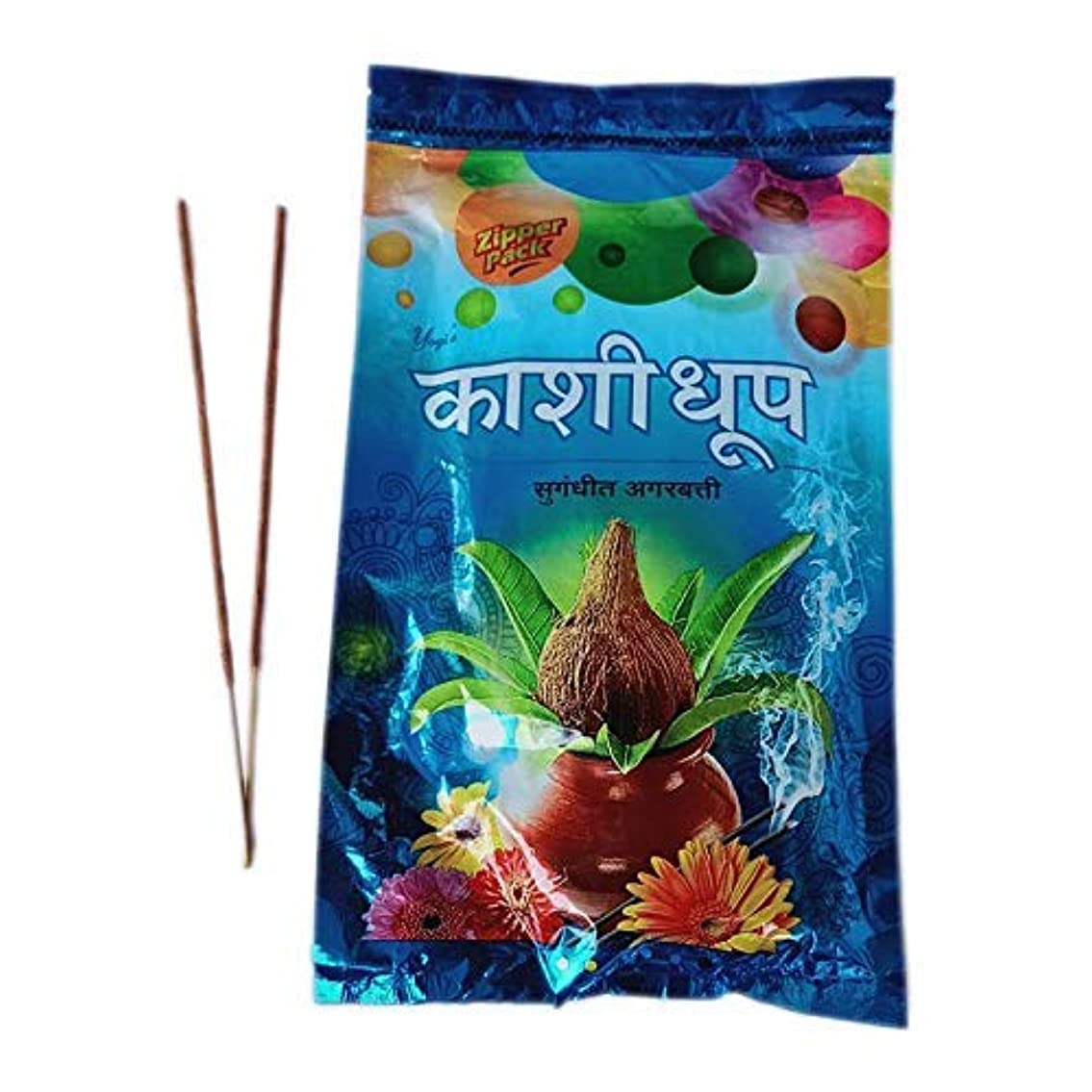 ひまわり機関カレッジYOGI Kashi Dhoop Incense Sticks/Agarbatti Zipper Pack (180 GM) Pack of 3