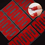 hamulekfae-50個使い捨てU字型こぼれ防止ネイルプロテクター弾性指カバーステッカー - 赤50個Red50pcs