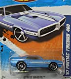 2011 HOT WHEELS STREET BEASTS 86/244 BLUE '67 PONTIAC FIREBIRD 400 06/10