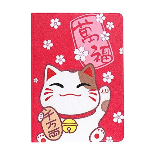 Pink&Brown iPadケース 超可愛い招き猫 レザー 三つ折 スタンド オートスリープ 多サイズ対応 スマートカバー プレゼント対応...