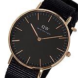 ダニエル ウェリントン クラシック ブラック コーンウォール/ローズ 36mm ユニセックス 腕時計 DW00100150 [並行輸入品]