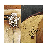 壁アートクラシック自然花キャンバス 100% 手描き現代抽象的な花油絵壁アート装飾アートワークの家の装飾のためにハングアップする準備ができてフレーム,A_60*60CM