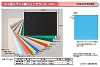 マス目入ラシャ紙(ニューカラーR) 全判100枚(一般色) 110 うすみずいろ