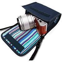 カメラケース ミラーレス LUMIX GF10/GF9ケース(ネイビー・アズーリ)- 単焦点レンズ用 -suono(スオーノ)ハンドメイド