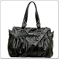 VANCHI Zeppelin Carrier, Baby Diaper Bag - Handbag, Blackbird, Black by Vanchi