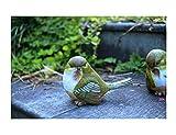 YINING 鉢植え ガーデンオーナメント 庭/オブジェ/置物 飾り物  絵本 かわいい 動物 森 おしゃれ インテリア雑貨 (小鳥 2羽セット)
