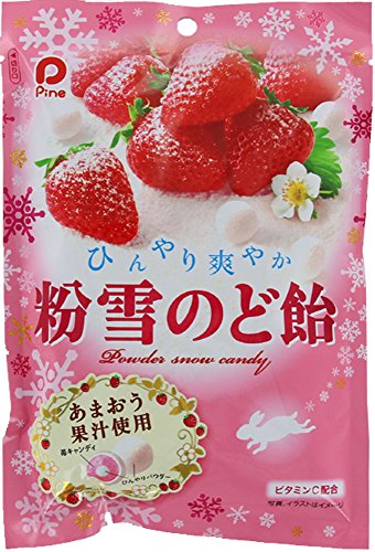 パイン  粉雪のど飴 苺  70g×6袋