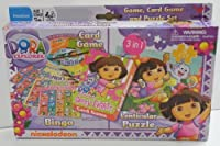 Dora 3 in 1 Card Game and Puzzle Set by Cardinal Games [並行輸入品]