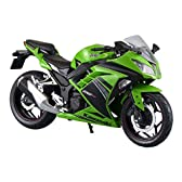 スカイネット 1/12 完成品バイク kawasaki Ninja250 ライムグリーン SE