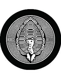 家紋シール 向こう亀丸紋 布タイプ 直径40mm 6枚セット NS4-1214
