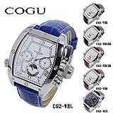 コグ COGU 自動巻き メンズ 腕時計 C62-WBL ホワイト-シルバー/ブルー メンズ[並行輸入品]