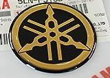 YAMAHA TUNINGエンブレムステッカーロゴ(40mm)/ゴールド - クローム/その他のサイズ選択/ BODY GEL樹脂接着剤モト/ジェットスキー/ ATV /スノーモービル(40mm)